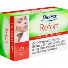 Dietisa - Refort | Nutrition & Santé | 48 cápsulas | L-cistina, vitaminas, Hierro y Zinc | Piel, Cabello y Uñas