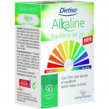 Dietisa - Alakaline | Nutrition & Santé | 90 cápsulas | Espinaca en Polvo y Citratos Minerales | PH