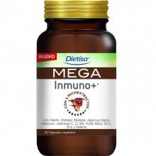 Dietisa - Mega Inmuno + | Nutrition & Santé | 60 cápsulas | Reishi, vitaminas C, D, B6, B12, Zinc y Selenio | Sistema Inmune