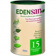 Edensan - Circulación Venosa 15 | Nutrition & Santé | 75g | Ruscus aculeatus, hojas y flores | Plantas