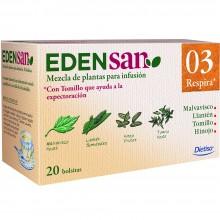 Edensan - Respira 03 Filtros | Nutrition & Santé | 20 filtros | Malvavisco, hojas y flores | Plantas