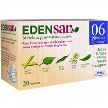 Edensan - Glucosa 06 Filtros | Nutrition & Santé | 20 filtros | Judía, Ortiga, Hinojo, Nogal, Oliva, Hojas y Flores | Plantas