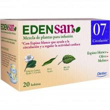 Edensan - Circulación 07 Filtros | Nutrition & Santé | 20 filtros | Espino blanco, hojas y flores | Plantas