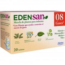 Edensan - Gases 08 Filtros | Nutrition & Santé | 20 filtros | Hinojo, Manzanilla, Melisa, Tila, Raices, hojas y flores | Plantas