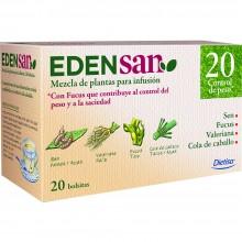 Edensan - Control de Peso 20 Filtros | Nutrition & Santé | 20 filtros| Sen, Fucus, Valeriana, hojas y flores | Plantas