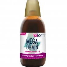 Biform - Mega Drain | Nutrition & Santé | 500ml | Cactinea, Saúco, Té Java, Abedul, Cola Caballo | Líquidos/Depuración