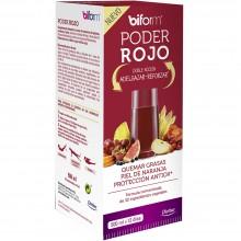 Biform - Poder Rojo | Nutrition & Santé | 500ml | Nuez de Cola, Guaraná, Zinc, Arándanos | Grasas