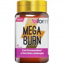 Biform - Mega Burn | Nutrition & Santé | 60 cáps. 500mg | Fucoxantina, Nuez de Cola y Café Verde | Grasas