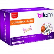 Biform - L Carnitina + CoQ10 | Nutrition & Santé | 60 cáps. 167 mg | L-carnitina, coenzima Q10 y aminoácidos | Grasas