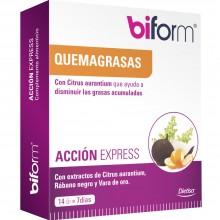 Biform - Acción Express | Nutrition & Santé | 14 cáps. 125 mg | Rábano negro, Magnesio, Titanio | Grasas