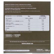SikenDiet Sandwich crujiente de Chocolate | Siken | Caja de 6 unidades de 21 gr | Control de peso - Dietas saludables