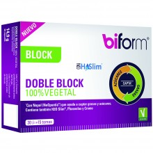 Biform - Doble Block 100% Vegetal | Dietisa | 30 cáps. | Perder Peso – Bloqueadores