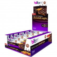Biform - Barritas Crujientes Chocolate Negro | Dietisa | 20 Barritas | Snacks