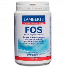 FOS Formerly Eliminex Fructo-oligosacáridos Prebiótico Natural   Lamberts   500g   Sistema Digestivo