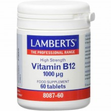 Vitamina B12 1000 µgr   Lamberts   100 comp.   Sist. Inmune y nervioso - Huesos