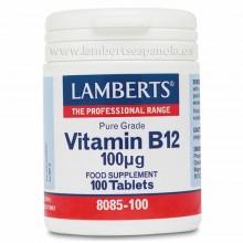 Vitamina B12 100 µgr   Lamberts   100 comp   sist. Inmune y nervioso - huesos