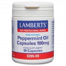 Aceite de Menta   Lamberts   90 Cáps de 100 mgr.   sist. Digestivo