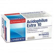 Acidophilus Extra 10   Lamberts   60 Comp de 10 mil millones de bacterias   Sistema digestivo