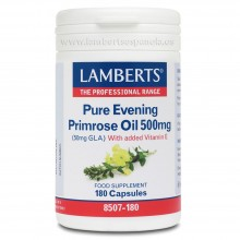 Aceite de Prímula u Onagra Puro | Lamberts | 180 Tablet. 500mg | Desarrollo Muscular/ Defensas