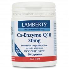 Co-Enzima Q10 | Lamberts | 60 cáps. 30mg | Defensas - Relentiza Envejecimiento