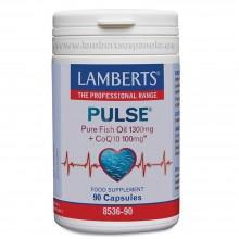 PULSE® con Omega 3 y Coenzima Q10 | Lamberts | 90 cáps. 1400mg | Defensas - Relentiza Envejecimiento