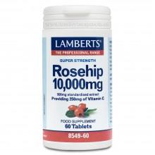 Escaramujo con Vitamina C | Lamberts | 60 cáps. 10.000 mg | Piel, Huesos, Sistema Inmune
