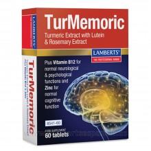 TurMemoric Extracto de Cúrcuma | Lamberts | 60 Cáps de 600 mg. | Antiinflamatorio - Cuidado Óseo y Articular - Memória