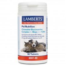 Complejo de Glucosamina Masticable | Lamberts | 90 comp. de 550 mgr. | nutricion perros y gatos