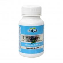 Chitosan con Té Verde y Vitamina C | Sotya | 100 Cáps. 600mg | Perder Peso y Digestión