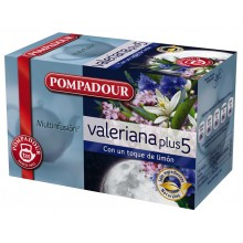 Valeriana Plus 5 | Pompadour | 20 bolsitas | Dormir
