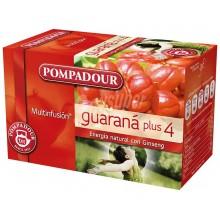 Guaraná Plus 4 | Pompadour | 20 bolsitas | Energía