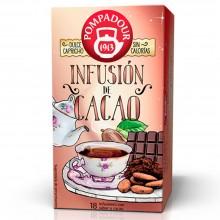 Infusión de Cacao   Pompadour   18 bolsitas   Dulce