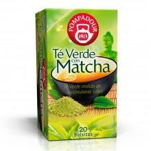 Té verde con Matcha | Pompadour | 20 bolsitas | Estimulante