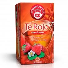 Té Rojo con Fresas   Pompadour   20 bolsitas   Intenso - Detox