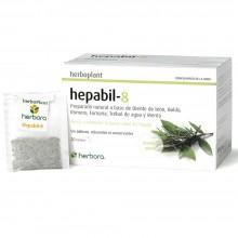 Hepabil-8   Herbora   20 infusiones   Digestiones Pesadas y Detox Hígado