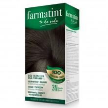 Tinte 3n castaño oscuro FTT Gel | Farmatint | 60 ml | Tinte Castaño Oscuro