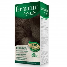 Tinte 5n Castaño Claro FTT Gel | Farmatint | 60 ml | Tinte Castaño Claro