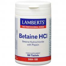 Betaína HCI    Lamberts   180 comps. De 324/5 mgr   sist. Digestivo