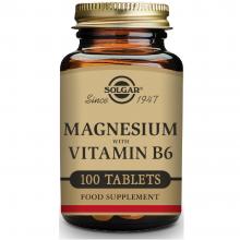 Magnesio + Vitamina B6   Solgar   100 Comps. 400/25 mgr.   Fatiga – energia