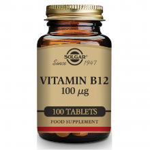 Vitamina B12  | Solgar | 100 comps. de 100 µgr. | sist.nervioso – mente