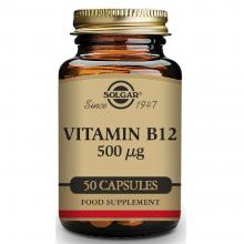 Vitamina B12  | Solgar | 50 caps. Vegetales de 500 µgr. | sist.nervioso – mente