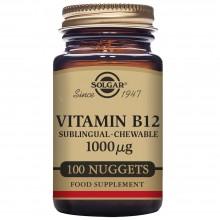 Vitamina B12  | Solgar | 100 Comps Masticables de 1000 µgr. | sist.nervioso – mente