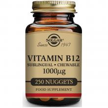 Vitamina B12  | Solgar | 250 Comps Masticables de 1000 µgr. | sist.nervioso – mente