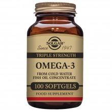 Omega-3 Triple Concentración | Solgar | 100 Caps. De 1400 mgr. | sist. Cardiovascular – ojos
