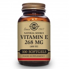 Vitamina E caps. Vegetales | Solgar | 100 Cáps de 268 mgr | Antioxidante - Antiinflamatorio