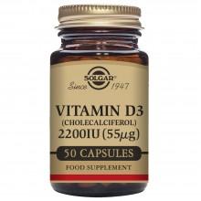 Vitamina D3  | Solgar  | 60 Cáps de 2200IU (55µg) | Inmunidad - Huesos y Dientes Sanos