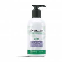 Loción hidratante CBD - Alvinatur |  250ml.  |100% Bio | Máxima hidratación y nutrición