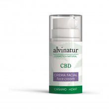 Crema facial CBD - Alvinatur |  50ml.  |100% Bio | Máxima hidratación y nutrición