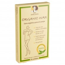 Cera orgánica - Cuerpo en tiras   20 Tiras   HCB depilación   Cera Vegana