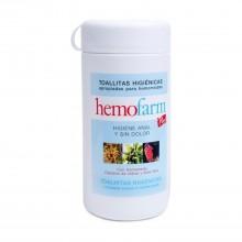 Hemofarm Plus Bote -  Hemofarm | 60 uds | Toallitas Higiene en Caso de Hemorroides